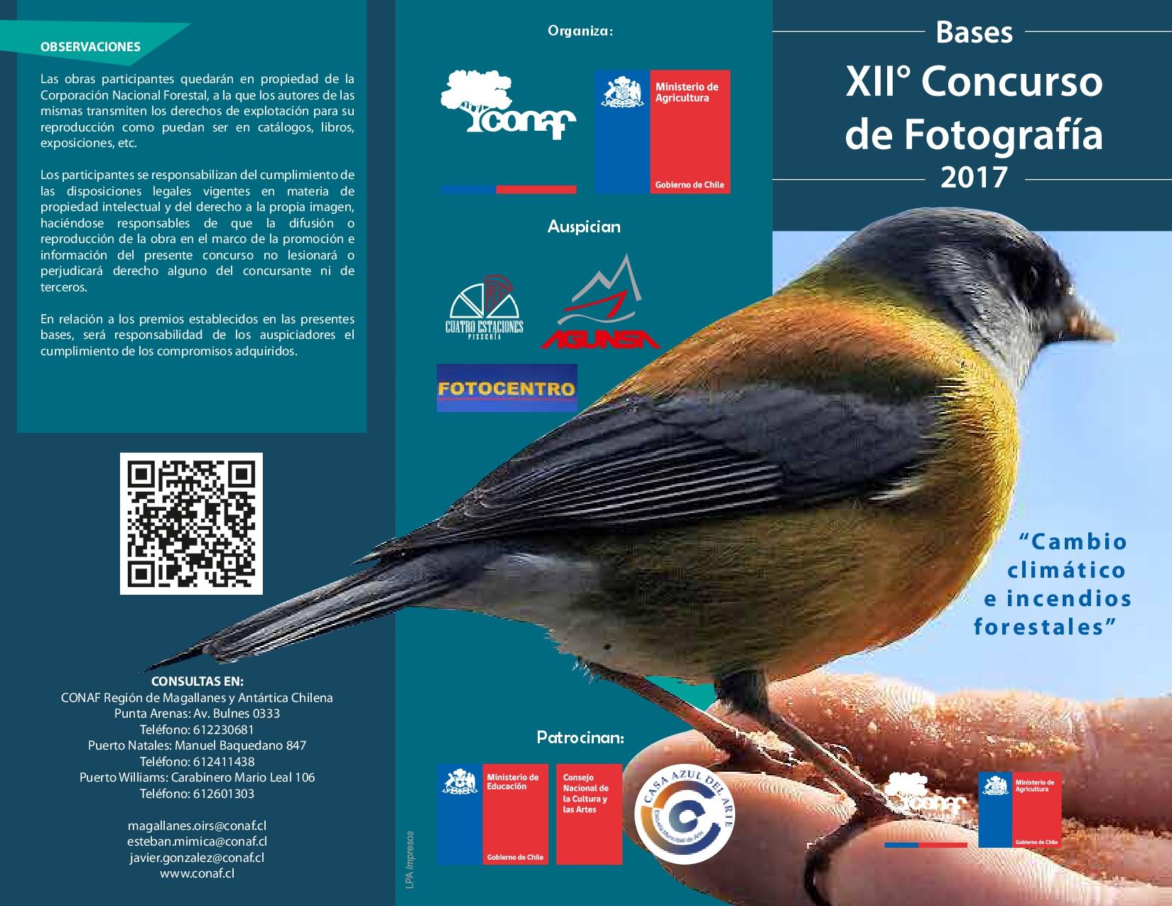 XII Concurso de Fotografía 2017 CONAF Región de Magallanes