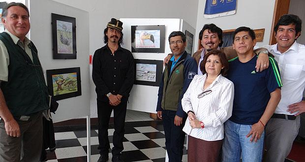 CONAF inaugura muestra de dibujos con patrimonio de áreas protegidas