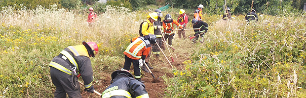 Director de CONAF Los Ríos y Presidente del Consejo Regional de Cuerpos de Bomberos coordinan apoyos para enfrentar incendios forestales y de interfaz