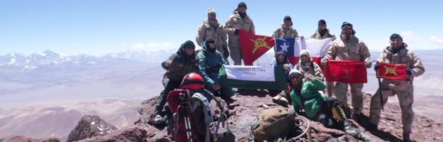 CONAF realiza expedición de monitoreo al patrimonio arqueológico del volcán Copiapó
