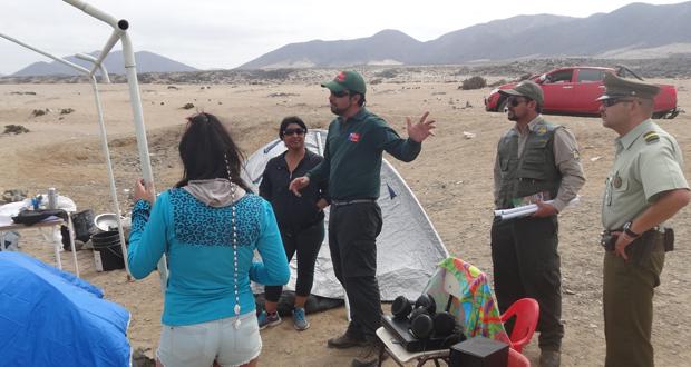 CONAF, SAG y Carabineros sensibilizan a comunidad y visitantes de Llanos de Challe