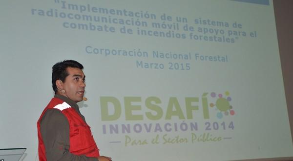 Eduardo Luna, José Espinoza y Juan Méndez, crearon un sistema de radiocomunicación móvil de apoyo para el combate de incendios forestales.