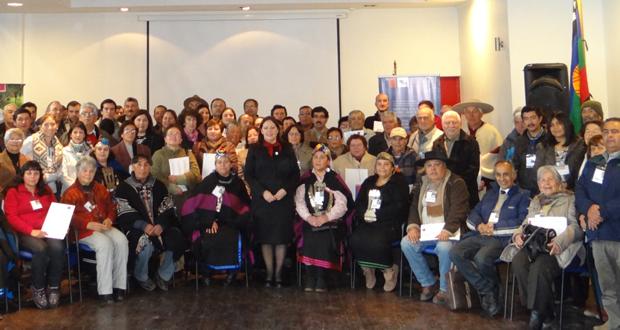El grupo, en su mayoría mujeres mapuches y lideradas por el Lonco José Llaulén de la asociación Epu Neguen, presentaron una serie de antecedentes ancestrales, respecto al cambio climático en el país y la cultura mapuche.