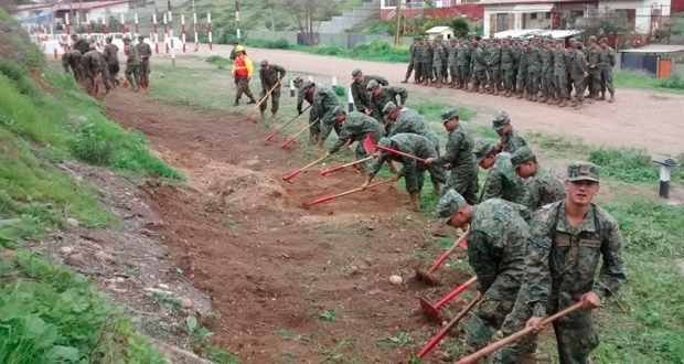 Estas Brigadas especiales se denominan BRIFE, y actúan como refuerzo en casos de incendios forestales graves.