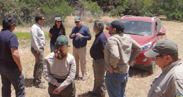 El gerente de Áreas Silvestres Protegidas de CONAF, Fernando Aizman Castilla, en su reciente visita a la Región de Coquimbo.