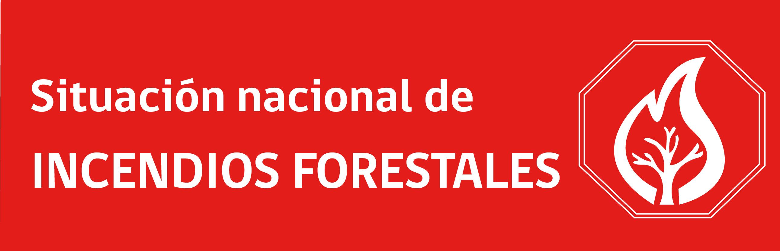 Situación nacional de incendios forestales