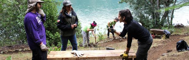 Jóvenes mejoraron espacios públicos de reservas nacionales Ñuble y Altos de Pemehue