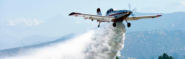 Gobierno entregó el primero de tres nuevos aviones para combatir incendios forestales