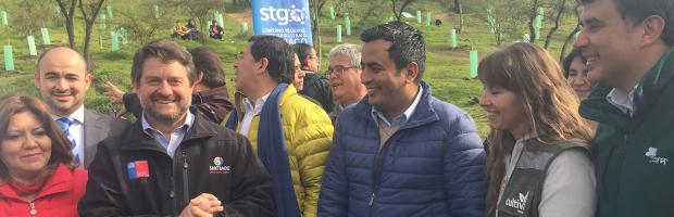 Autoridades y estudiantes plantaron 2a etapa de reforestación del Cerro Chena