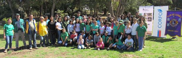 Realizan taller de arborización en Parque Chamonate de Copiapó