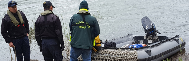 CONAF y la Armada realizaron patrullaje fluvial en el Río Maule