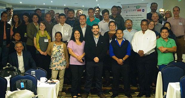 Taller de Monitoreo REDD+, realizado en Lima, Perú, entre el 4 y el 7 de julio.