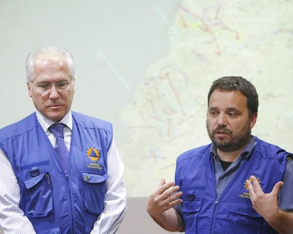 Julián Montero y Marc Castellnou, expertosen incendios forestales de la Unión Europea.