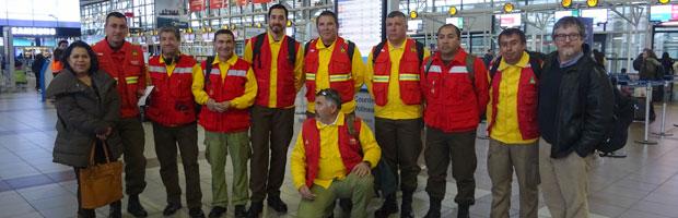 Brigadistas CONAF viajan a la Isla de Pascua a apoyar labores de combate y prevención