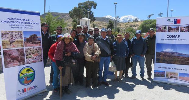 Cuarto y último taller del año organizado por CONAF, con el propósito de consolidar la información de los diversos encuentros efectuados tanto en Putre como en Arica,  para lograr la actualización del Plan nacional de conservación de la taruca, que se había elaborado el 2006.