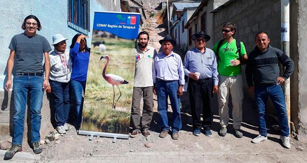 La comunidad indígena aymara Tata Jachura y la Junta de Vecinos de Chiapa, establecieron una alianza para contribuir a la conservación, desarrollo y uso sustentable de los recursos naturales del poblado que es parte del Parque Nacional Volcán Isluga.