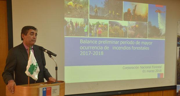 Director ejecutivo de CONAF, Aarón Cavieres.