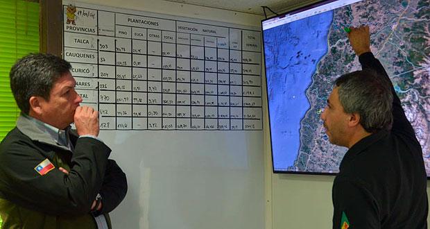 Una disminución de 94% en superficie afectada por los incendios forestales registra el país en relación a igual período del año pasado.