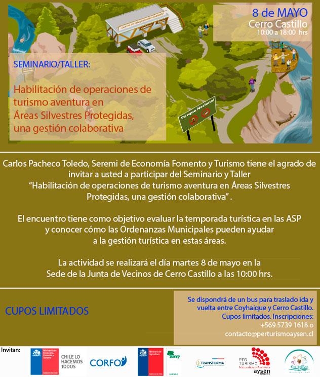 Seminario 'Habilitación de operaciones de turismo aventura en Áreas Silvestres Protegidas, una gestión colaborativa'