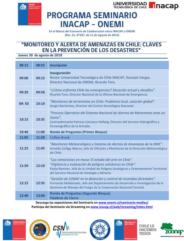 Seminario Monitoreo y Alerta de Amenazas en Chile