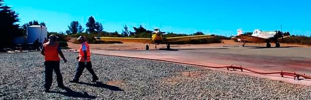 Base aérea de CONAF en Rodelillo fue calificada como de alto estándar