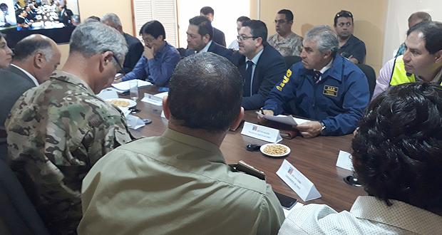 Las condiciones meteorológicas de la zona fue uno de los temas abordados durante la reunión del Comité Operativo de Emergencias, COE.