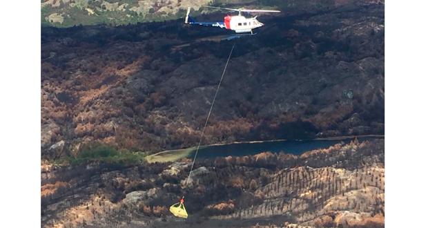 CONAF moviliza por vía aérea vivienda para afectado por incendio forestal Colonia Sur