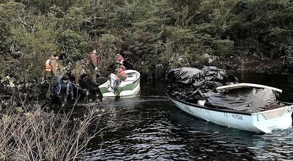 Desarman tres campamentos de pesca ilegal en Lago Llanquihue