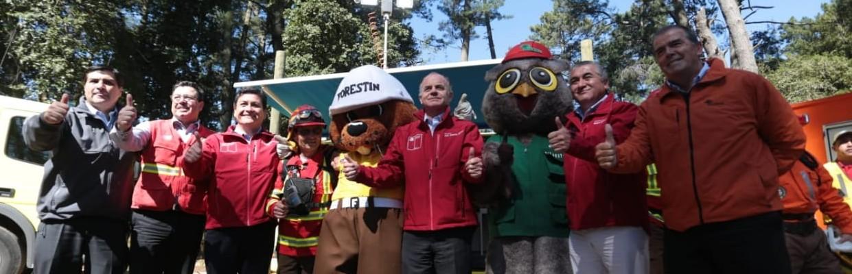 Autoridades presentaron plan para la prevención y el combate de los incendios forestales en el Biobío
