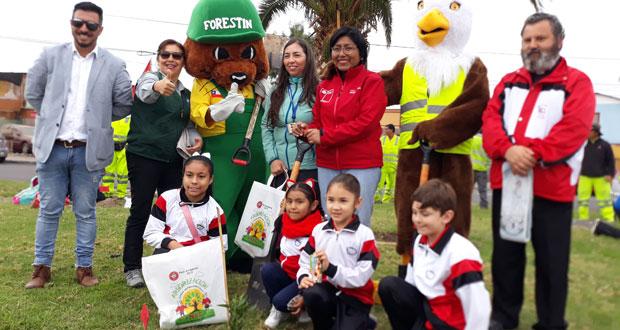 La jornada ecológica se hizo completando su programación por el Día Mundial del Medioambiente.