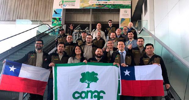 Un total de 19 guardaparques, administradores y profesionales de CONAF, encabezados por el gerente de áreas silvestres protegidas de la Corporación, Richard Torres, están participando en este encuentro.