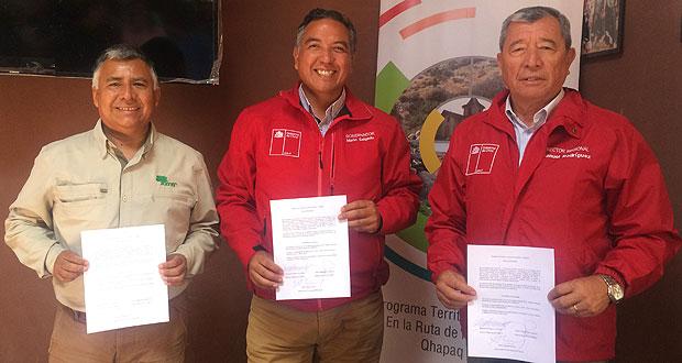 Como escenario del acuerdo se eligió el poblado de Socoroma, donde Corfo lleva adelante la Escuela de Turismo Rural, iniciativa del Programa Territorial Integrado (PTI).