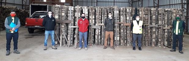 Autoridades realizan fiscalización en centros de acopio de leña en Valdivia