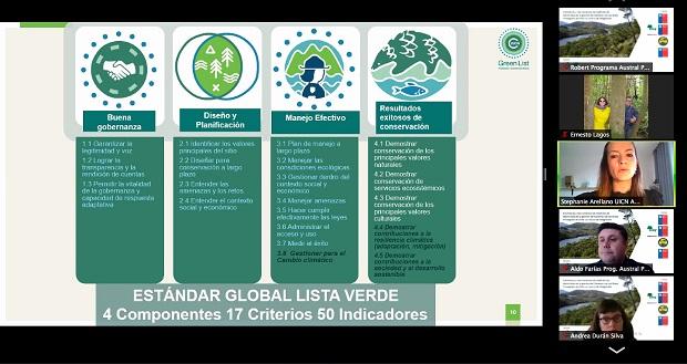 """Seminario """"Estándares y herramientas de medición de efectividad de la gestión de sistema y de las áreas protegidas de Chile"""", que organizaron la Corporación Nacional Forestal (CONAF), Ministerio del Medio Ambiente y la Subsecretaría de Turismo."""