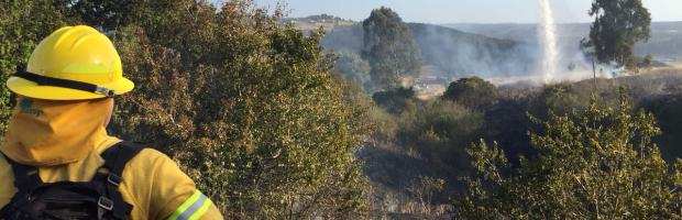 Con medios terrestre y aéreos  CONAF combate incendio de Collipulli