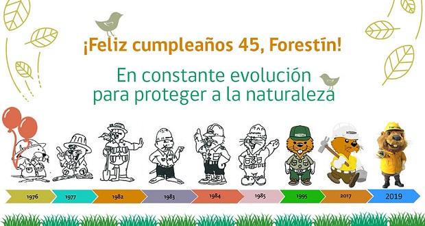 Desde 2014 Forestín cuenta con sus propias redes sociales, donde refuerza su mensaje de amor y respeto a la naturaleza, a través de la educación ambiental.