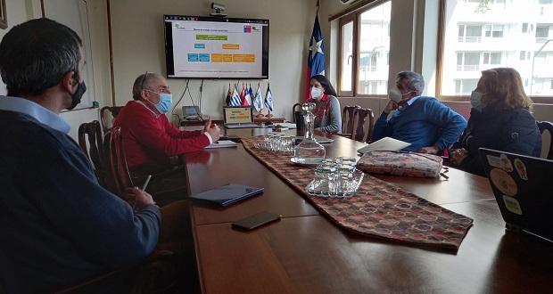 La gerenta de Protección contra Incendios Forestales de CONAF, Aída Baldini, se reunió en Concepción con representantes de las empresas forestales y equipo técnico de Corma con el objetivo de abordar el trabajo conjunto.