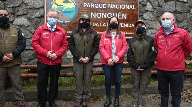 El Parque Nacional Nonguén, ubicado en las comunas de Chiguayante y Concepción e inaugurado por la Ministra de Agricultura, María Emilia Undurraga, comprende la totalidad de la superficie de la ahora ex reserva nacional, esto es 3.036,90 hectáreas.