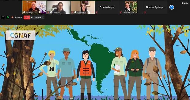 El encuentro, organizado por la Corporación Nacional Forestal (CONAF), fue inaugurado por la ministra de agricultura, María Emilia Undurraga, el director ejecutivo de CONAF, Rodrigo Munita, y la presidenta de la Federación Latinoamericana de Guardaparques, Laura Pastorino.